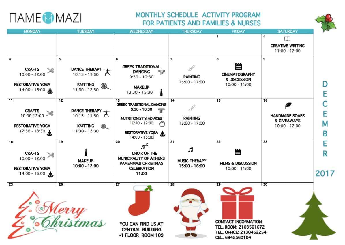 Hospital Activities December