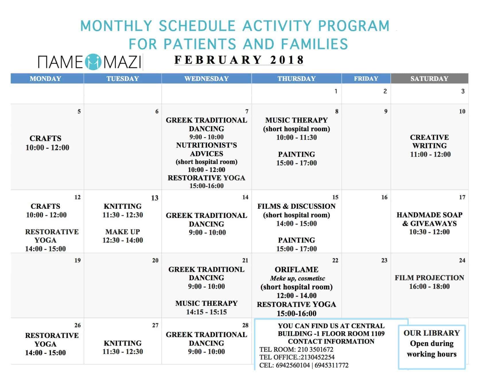 Program February 2018