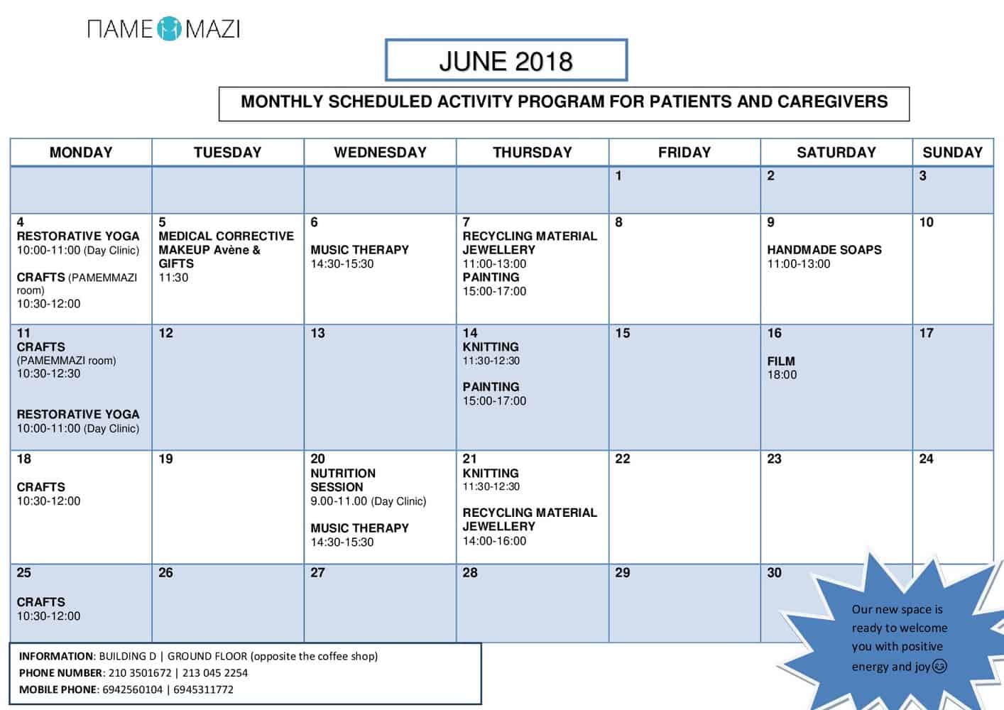 Activities June 2018