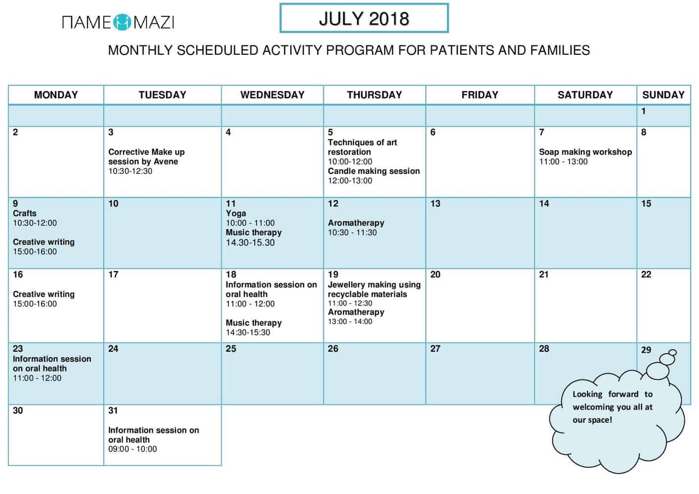 Activities July 2018